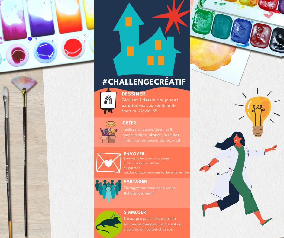 Partagez vos créations avec le « #challengecréatif »