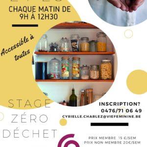 Vie Féminine : Stage Zéro Déchet à Thuin
