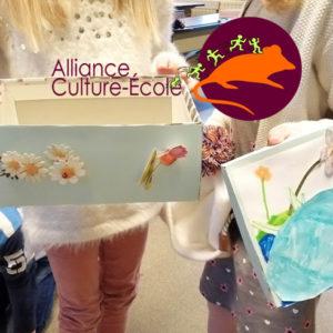 Exposition des travaux des élèves de 3, 4 et 5ème primaire pour le projet scolaire «Le cycle de l'eau» à  Lobbes