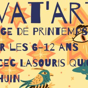 Stage de printemps du CEC «LaSouris QuiCrée» pour les 6-12 ans à Thuin