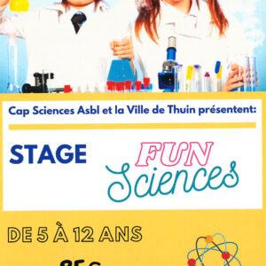 STAGE FUN SCIENCES à Biercée pour les 5-12 ans du 02 au 06 août 2021