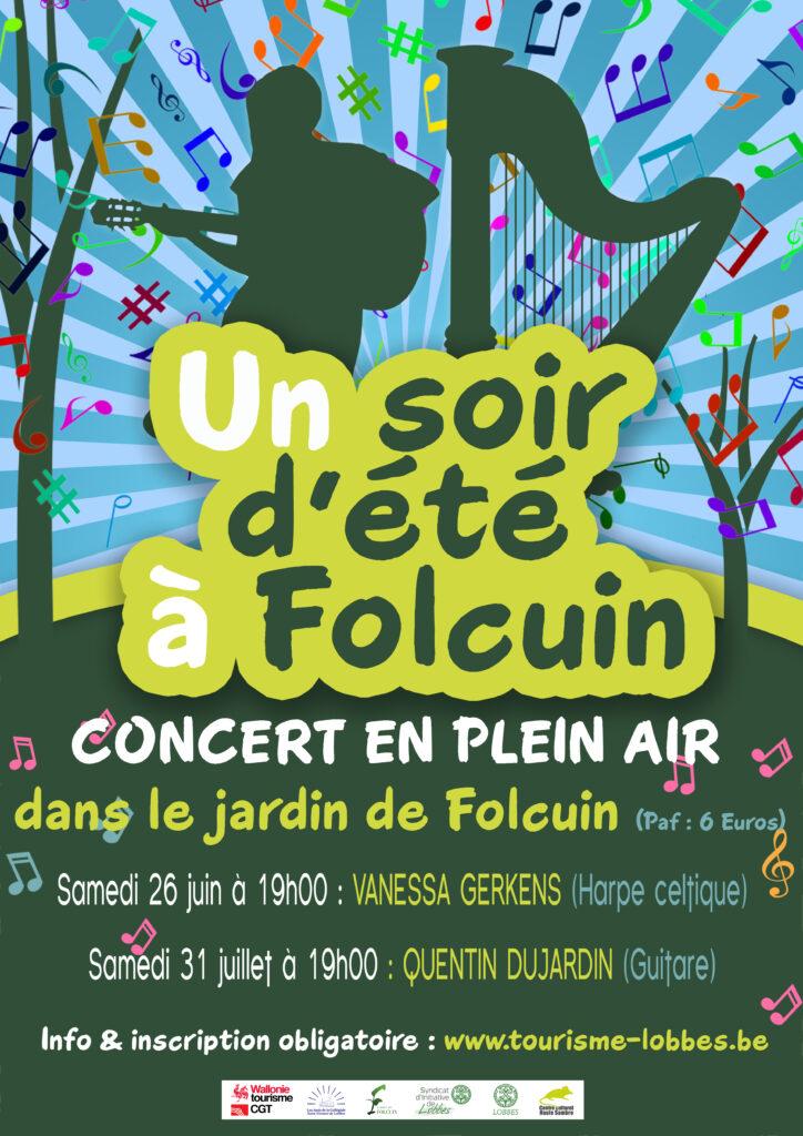 Un Soir d'été à Folcuin 2021 Festival de musique du monde Lobbes - Samedi 26 juin 2021 (19h00) & Samedi 31 juillet (19h00) (paf : 6 euros – inscription obligatoire)