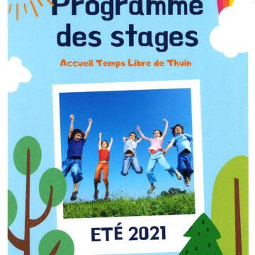 ATL Thuin : Programme des stages d'été 2021