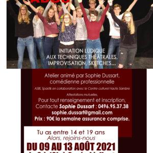 Stage de théâtre pour Ados de 13 à 19 ans à Gozée