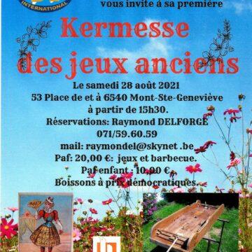 Mont-Ste-Geneviève «Kermesse aux jeux anciens»