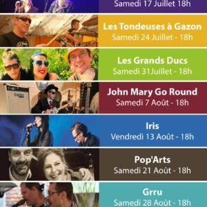 Horecatulas Ville Haute Thuin : Programmation musicale pour cet été