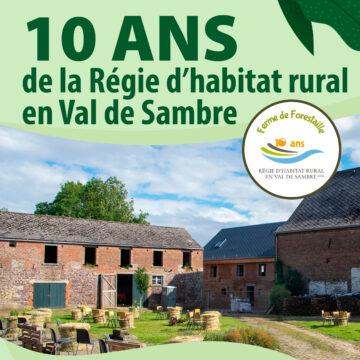 10 ans de la Régie d'habitat rural en Val de Sambre