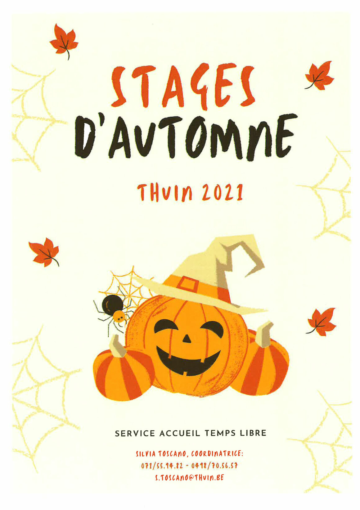 ATL : Stages d'automne Thuin 2021