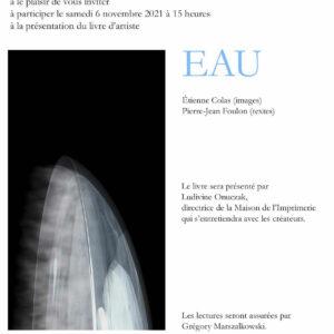 Présentation du livre d'artiste : «EAU»